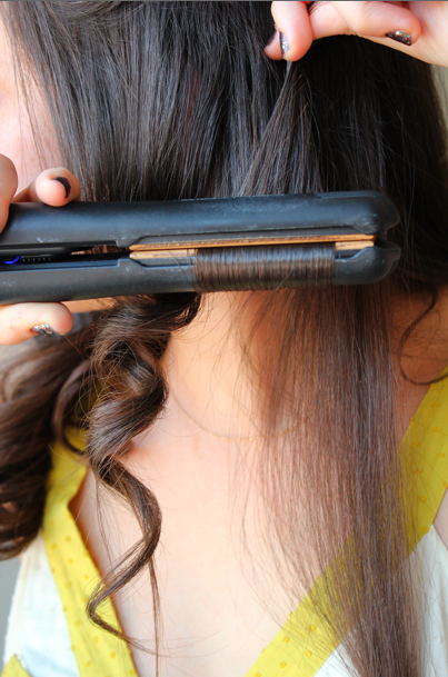 FILE UNDER: HAIR} flat iron curls how-to