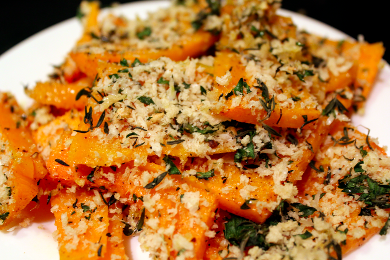 {FILE UNDER: FOOD} Sunday snacks, crusted butternut squash ...
